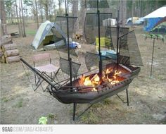 Now that's an awesome firepit!