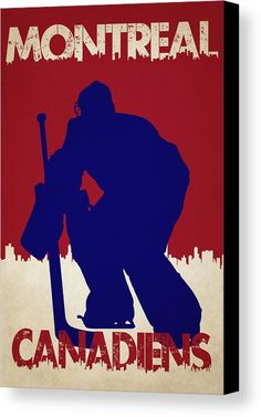 Canadiens Canvas Print featuring the photograph Montreal Canadiens by Joe Hamilton