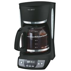 Mr. Coffee CGX23 12-Cup Programmable Coffeemaker, Black - http://www.teacoffeestore.com/mr-coffee-cgx23-12-cup-programmable-coffeemaker-black/