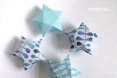 Türchen Nr. 5 – DIY Sternbox   Der Schlüssel zum Glück   Interior Design für Jedermann Christmas Origami, Stars And Moon, Box, Stampin Up, Design, Origami Christmas, Bricolage, Advent Calendar, Stars