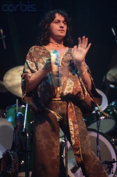 Jon Anderson Playing the Tambourine