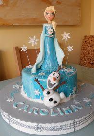 Frozen cake, Elsa & Olaf