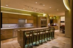 Aspen, Colorado. Remodel. #LED #lightingdesign #kitchen #Covelights
