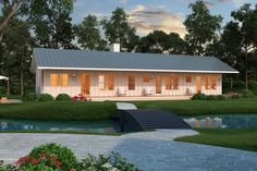 Ranch Style House Plan - 2 Beds 2 Baths 1480 Sq/Ft Plan #888-4 Exterior - Front Elevation - Houseplans.com