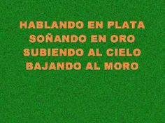 Melendi - Hablando en Plata(Letra) Le début de la chanson pourrait être utilisé pour réviser le gérondif