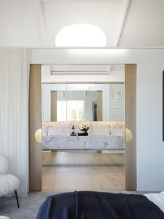 [New] The 10 Best Home Decor Ideas Today (with Pictures) - When any old ensuite just won't do Love the gold detail in the sliding door handles . The delicious Clovelly House II byMadeleine Blanchfield Architects Laundry In Bathroom, House, House Bathroom, Bathroom Interior Design, Interior, Home, Decor Interior Design, House Interior, Interior Design
