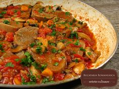Food La, Beef Tongue, Romanian Food, Calzone, Italian Dishes, Chana Masala, Lasagna, Stuffed Mushrooms, Curry