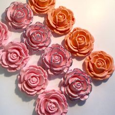 Check out Fondant Roses Large Cupcake, Cake Cookie Toppers. Set includes 12 (one dozen) ANY COLOR you'd like! on prettypartydetails