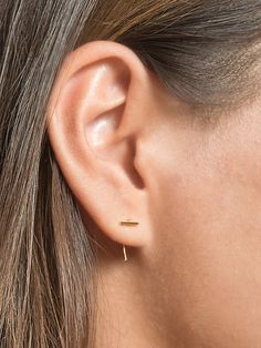 Bar Open Hoop Earrings Hoop Earrings Sterling door lunaijewelry