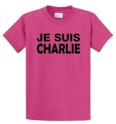 Comical Shirt Men's Je Suis Charlie I Am Charlie Shirt Mens T-Shirt Pink M, Size: Medium