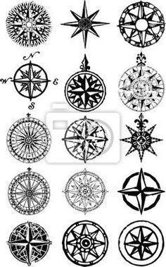 Kompass Tätowierung. 6108