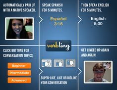 Verbling: Online tandem program to learn a foreign language