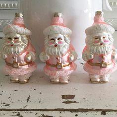 shabby pink santas