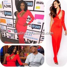 #PorshaWilliams' Red One Sleeve Dress #RHOA #WWHL