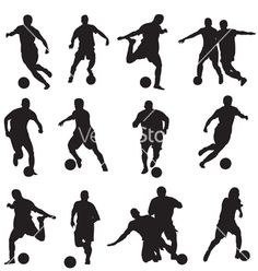 Free Vector | Soccer player silhouette vector 1662839 - by thanhtrong007 on VectorStock®