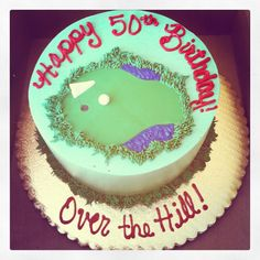 My Dad's 50th Birthday cake was truly one of a kind... loved the golf details!