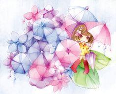 cute umbrella girl