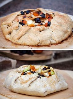 Cafe Lynnylu: Rustic Crostada with Apples and Dried Fruit Baked in a Wood-Fired Oven