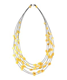 Look what I found on #zulily! Butterscotch Amber & Sterling Silver Six-Strand Illusion Necklace by Age of Amber #zulilyfinds