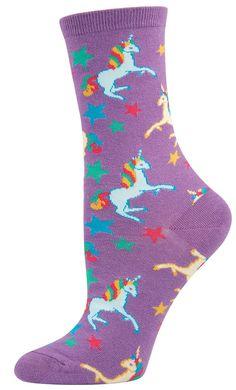 Socksmith Women's Novelty Crew - Unicorn - Cotton/lycra Blend