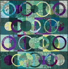 'Moonlit 2′ by Jenny King. Auckland Quilt Guild. 2014 Festival of Quilts.