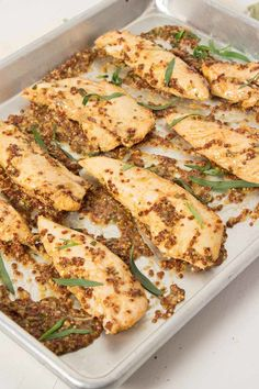 2. Mustard-Baked Chicken Tenders #greatist http://greatist.com/health/healthy-exciting-chicken-breast-recipes