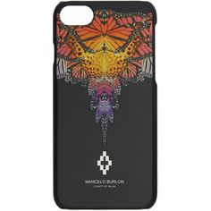 Marcelo Burlon County of Milan Black Filipa iPhone 7 Case ($62) ❤ liked on Polyvore featuring accessories, tech accessories and black