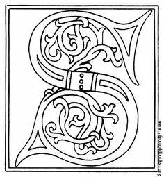 Lettre ornée du 15 ème siècle