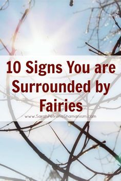 Get the list of 10 tell-tale signs that you& surrounded by your fairy guides! -- make a short list on antiqued and glittered paper to put near fairy garden