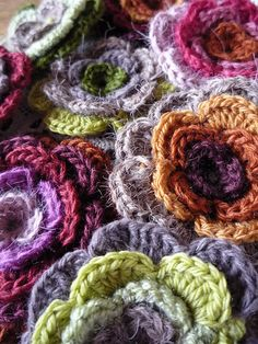 lovely #crochet flowers