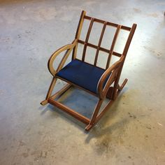 A children's sized rocking chair. Teak and beech plywood. #Mywork