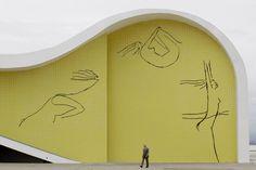Principais Obras de Oscar Niemeyer - No Brasil e No Exterior - Teatro Popular, em Niterói no RIO de Janeiro