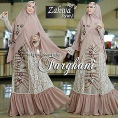 Zahwa vol2 by farghani :  Dress bahan full brokat mix tulle bunga  Khimar bahan ceruty  furing jersy Uk all size fit to Xl  Resleting depan ( busui ) karet pinggang; PB 142 cm LD 112 cm  Retail: 480.000 Reseller 460.000 estimasi ready 23feb  Dp 50% = Booking  Line @kni7746k Wa 62896 7813 6777  #pin #zahwavol2byfarghani #gamissyarifullceruty #gamissyaribrandedoriginal #gamissyaripremiummurah #distributorgamissyaribranded #distributorgamissyarimurah #gamiskhimarpolos…
