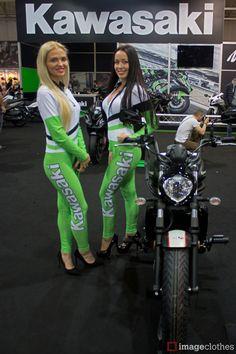 Kawasaki Girls in Imageclothes Catsuits. A perfect combination! by Kawasaki Slovenská republika #kawasaki #slovakia #slovenska #republika #bratislava #hostess #promoclothes #paddockgirls #umbrelagirls #free #dress #promo #simulation #marketing #promotion #fieldmarketing #print #quality #fair #dragraces #gims #motorshow #models #sbk #supermoto #motogp