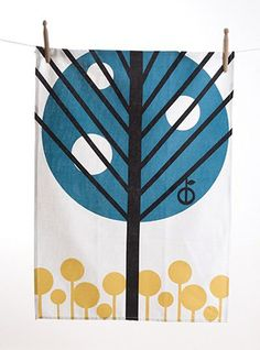 tea towels: Ferm Living Apple Tree tea towel