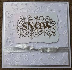 Sue Wilson, let it snow handmade Christmas Card, Sue wilson Embossing folders