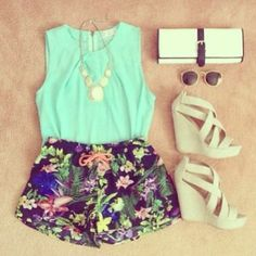 yxw7q3-l-c680x680-wedges-shoes-shorts-tank-top-flowers-summer-ivory-sandals-heels-shirt-blue-blouse-garden-statement-necklace-all-cute-outfi...