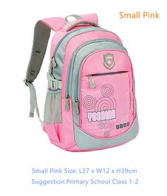 Children's Sporty-Style Waterproof Durable High-Quality Nylon Backpack 5 Colors
