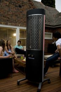 Totem Outdoor Heater. Good For Chilly Oregon Nights