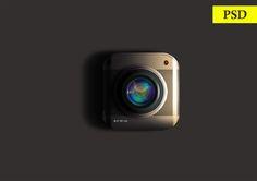 Camera Icon PSD on Behance