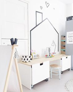 20 Fantastic Kids Playroom Design Ideas – My Life Spot Ikea Stuva, Ideas Habitaciones, Deco Kids, Kid Desk, Toddler Rooms, Kids Room Design, Kid Spaces, Kids Decor, Decor Ideas