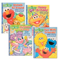 Bulk Sesame Street Jumbo Coloring Activity Books 96 Pg At
