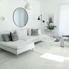 New Living Room Ikea Couch White Sofas 42 Ideas Living Room Decor Ikea, Living Room White, White Rooms, New Living Room, Interior Design Living Room, Home And Living, Living Room Furniture, Living Room Designs, Ikea Interior