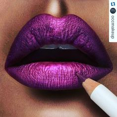 #Repost @occmakeup with @repostapp ・・・ Today's #LipOfTheDay is 'Datura'…
