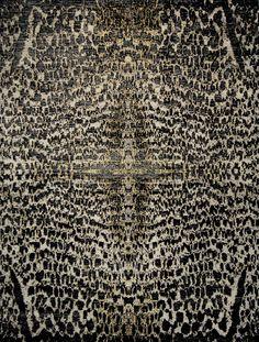 moderner Designerteppich Tibey Cheetah mit dekorativer Geparden-Musterung