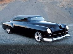 1949 Custom Cadillac Coupe-The C series Mercedes headlights make the front end.
