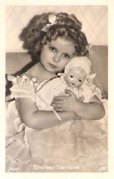 1935 Shirley Temple with composition baby doll