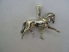 Dressage horse pendant horse jewelry pendant & bail ONLY. Silver plated pendant, sterling bail. $30.00 USD