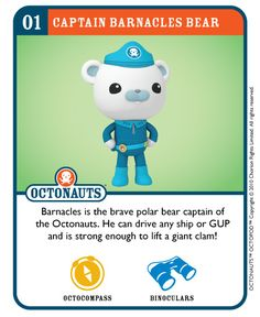 Captain Barnacles | One week til the Octonauts air on CBeebi… | Flickr - Photo Sharing!