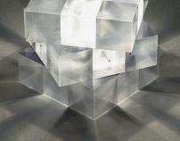 Rubik's lamp.
